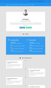 resume web templates 5 examples of beautiful resume cv web templates personal web pages