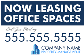 for lease sign template for lease signs for office retail real estate banners yard signs