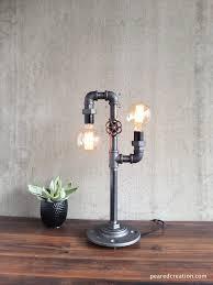 modern industrial lighting. Modern Table Lamp - Industrial Lighting Iron Piping Rustic Light L