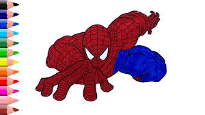 Spiderman coloring pages for boys free. Spider Man Drawing Easy Spiderman Coloring Pages Coloring Videos For Kids Youtube