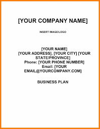 13 Business Plan Cover Page Template Cover Letter