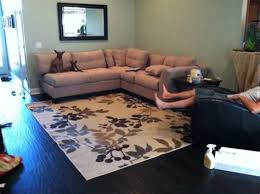 sectional rug placement area rug ideas
