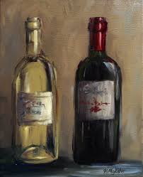 painting vino luxury items similar to wine bottles red wine white wine print