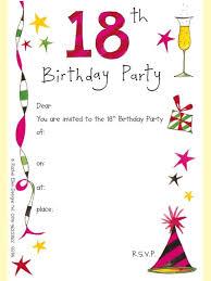 invitation party templates birthday invitation designs free 18th birthday party invitation