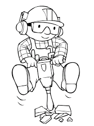 Small Picture Bob The Builder Being Mengecor Road Bob The Builder Coloring