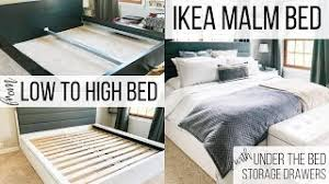 ikea malm bed frame adding under the