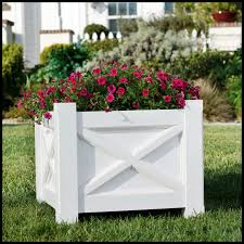 Decorative Planter Boxes Planter Boxes For Commercial Projects PVC Commercial Size Planters 9