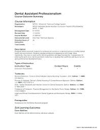 Example Of A Dental Assistant Resume Resume Examples For Dental