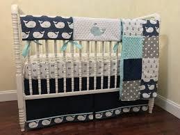 whale crib bedding set kei boy baby
