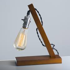 Desk Lamp Light Bulb Size Us 45 0 Loft Vintage E27 Holder Led Bulb Table Lamp Wood Base Light Brown Desk Lamps No Dimmer Switch Control Desk Lampe Bar Home In Table Lamps