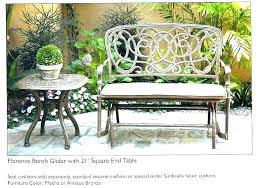 wrought iron bench seat outdoor tables garden table glancing cast nz