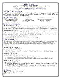 Corporate Travel Agent Resume Example Job Description And Duties