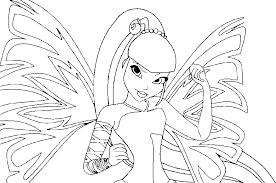 Kleurplaat Winx Club Baby Stella Ausmalbild Prinzessin Bloom
