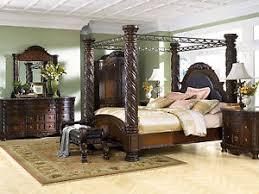 king canopy bedroom sets. Delighful Sets Image Is Loading AshleyFurnitureB553NorthShoreTraditionalKingCanopy In King Canopy Bedroom Sets