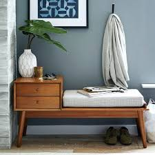contemporary benches for bedroom mid century storage bench acorn west elm within modern benches with storage contemporary benches for bedroom