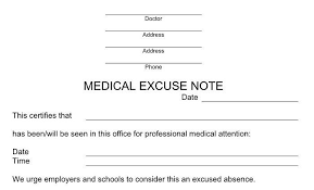Print Out A Fake Doctors Note Download Our Free Doctor Note Templates Examples If You