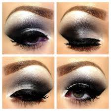 how to create a black eye with makeup how to do silver smokey eye makeup style