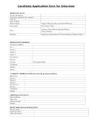 Job Application Form Template Interesting Application Form Sample Word Candidate Template Simple Student