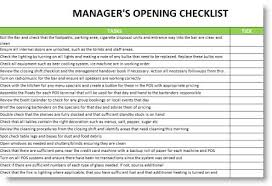 restaurant opening check list commonpence co