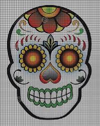 Skull Crochet Pattern Custom Day Of The Dead Skull Crochet Pattern