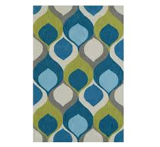 picture of dewdrop teal rug