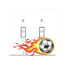 Sports Light Switch Plates Amazon Com Soccer Light Switch Cover Soccer Light Switch