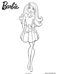 Coloriage Barbie En Jupe Dessin