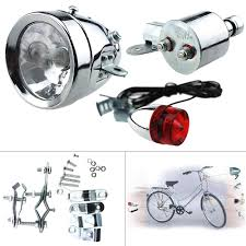 Ebay Bike Light Set Details About 12v 6w Bicycle Motorized Bike Friction Generator Dynamo Headlight Tail Light Set