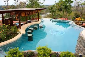 pool designs with bar. Swimming Pool: Stunning Pool With Bar Decorations Applied For Modern Equipped Unique Designs