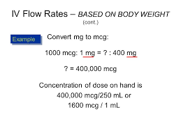 Iv Flow Rates Based On Body Weight Ppt Video Online Download
