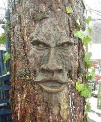 tree face decoration sculpture art decor yard garden plaque outdoor forest enchanted new fat decorations scary