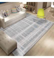 else gray white blue lines geometric 3d print non slip microfiber living room decorative luxury washable area rug carpet