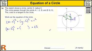 general equation of a circle gcse further maths revision exam paper practice help
