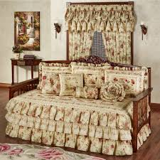 vintage rose ruffled daybed set flax daybed