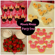Pink And Black Minnie Mouse Decorations Minnie Mouse Food See All The Games Decorations And Food Ideas