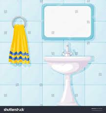 cartoon bathroom sink and mirror.  And Cartoon Bathroom Sink And Mirror Vector Shutterstock Flat Design  Illustration Modern And Cartoon Bathroom Sink Mirror N