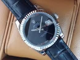 replica rolex datejust leather rolex men watches for replica rolex datejust black leather strap fashion watch