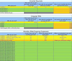 Monthly Expenses Worksheet Excel Categories Tab Monthly Expense ...