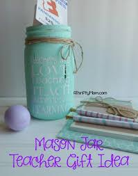 chalk paint mason jar teacher gift idea