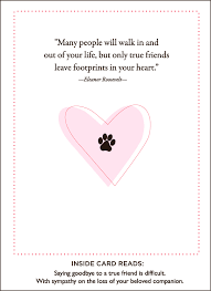 sympathy card pet paws and love pet sympathy card