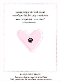 sympathy card pet paws and love pet sympathy card