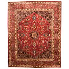 persian hand knotted semi antique 1940s mashad wool rug 10 8 x 13 2 herat oriental rugs