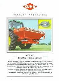 Kuhn Mds 921 Fertilizer Spreader 750 00 Picclick Uk