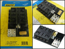 marine fuse block electrical lighting ato atc marine boat rv fuse terminal block 10 gang ground buss seachoice 13311