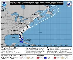 Tropical Storm Elsa 2021 on path for ...