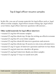 Top 8 legal officer resume samples In this file, you can ref resume  materials for ...