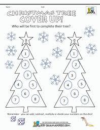 Christmas Math Worksheets Free Tree Challenge ~ Koogra