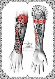 сделать татуировку предплечье в орнаментале в городе москва по