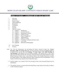 Format Of Internship Report For Mit Program Mohi Ud