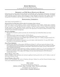 Hotel Management Resume Format Resort Manager Sample For Fresher ...